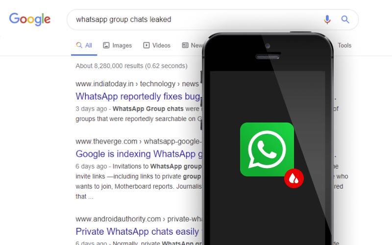 WhatsApp Group Chat Links Being Indexed By Search Engines